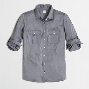 J.Crew Factory end on end camp shirt perfect fit M